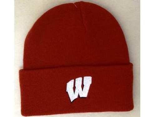 edec5158fde Wisconsin Mens Cuffed Knit Hat - Red or Black - WisconsinMade ...