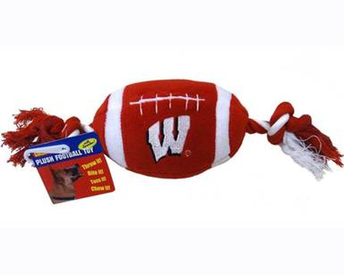 Wisconsin Badgers Football Dog Toy