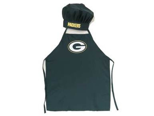 Packers Apron and Chef Hat Set