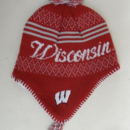 Wisconsin Braided Knit Hat - Girls
