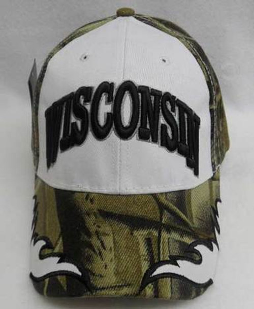 Wisconsin Camouflage Flame Baseball Cap
