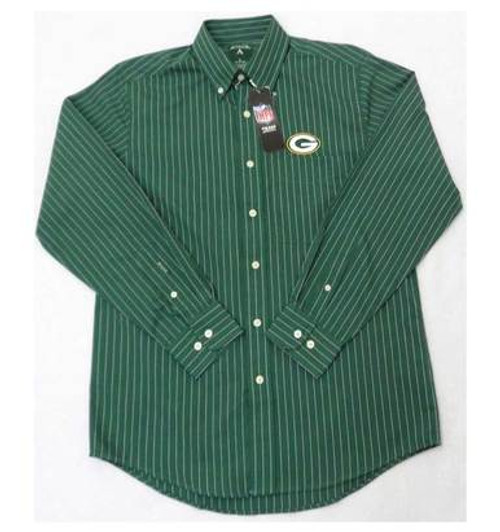 Packers Logo Striped Dress Shirt - Mens