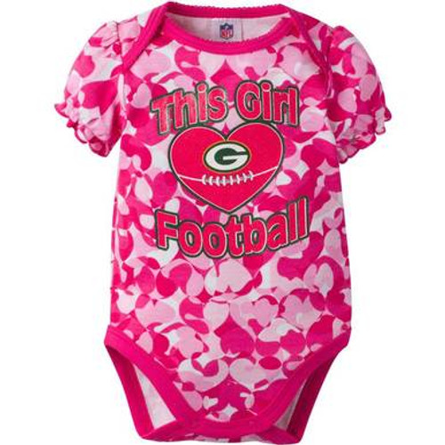 Packers This Girl Pink Bodysuit - Baby