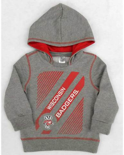 Wisconsin Badgers Slider Hoodie - Toddler