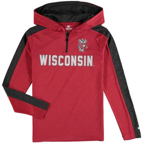 Wisconsin Badgers Hooded Shirt - Youth