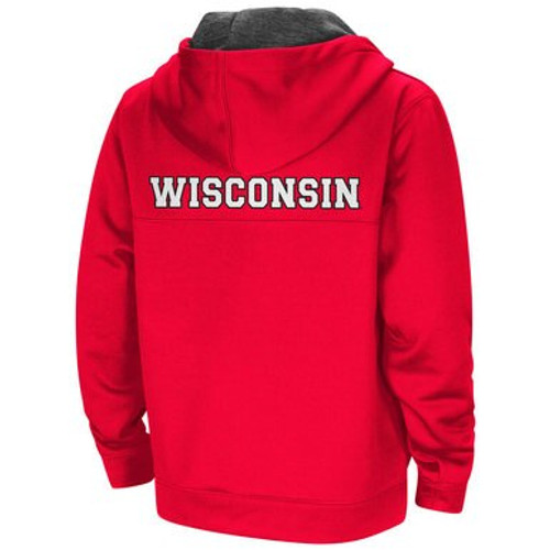 Bucky Badger Half Zip Pullover Hoodie - Youth