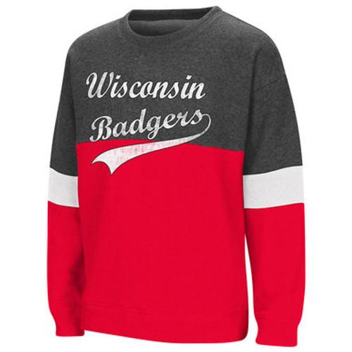 Wisconsin Badgers Girls Crew Sweatshirt