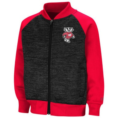Bucky Badger Fleece Bomber Jacket - Toddler