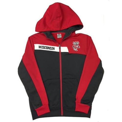 Bucky Badger Full Zip Hoodie - Youth