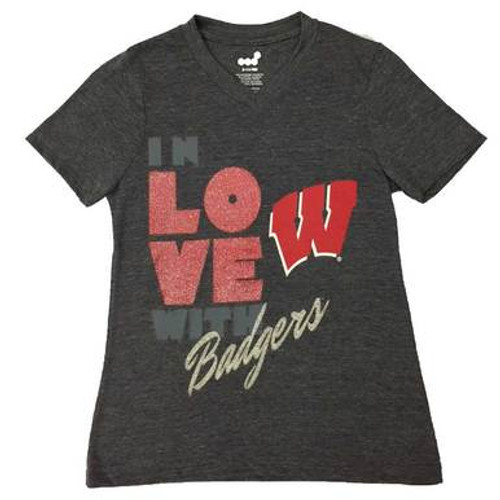 Wisconsin Badgers Love Tee - Girls
