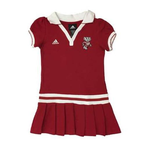 Bucky Badger Preschool Girls Polo Dress