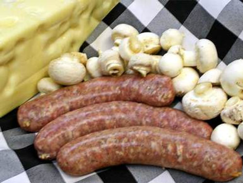 Mushroom Swiss Cheese Brats