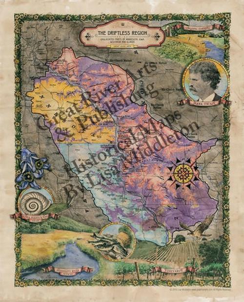 Wisconsin Historic Map - Driftless Region
