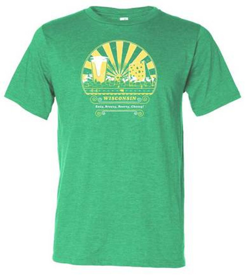 Wisconsin Beer and Cheese Mens T-Shirt