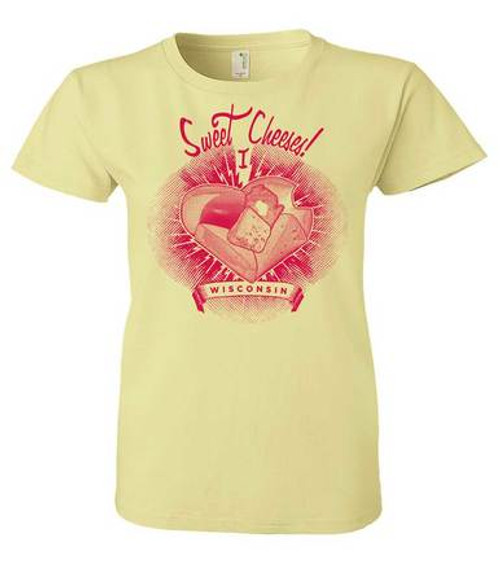 Wisconsin Sweet Cheeses Ladies T-Shirt