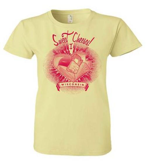 Wisconsin Sweet Cheeses Ladies T-Shirt