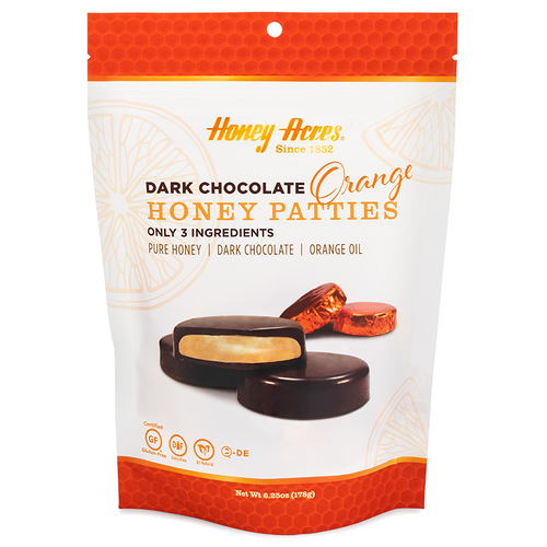 Honey Acres Dark Chocolate Orange Honey Patties - 3 Bags