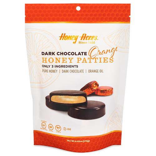 Honey Acres Dark Chocolate Orange Honey Patties - 3 Bags