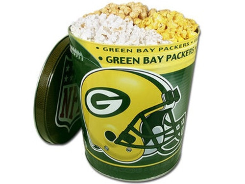 Green Bay Packers Popcorn Gift Tin - 3 Gallon