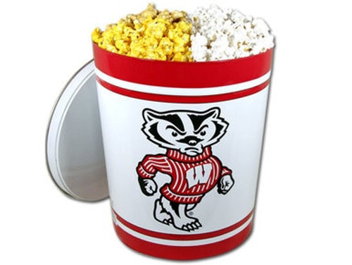 Wisconsin Badgers Popcorn Gift Tin - 3 Gallon