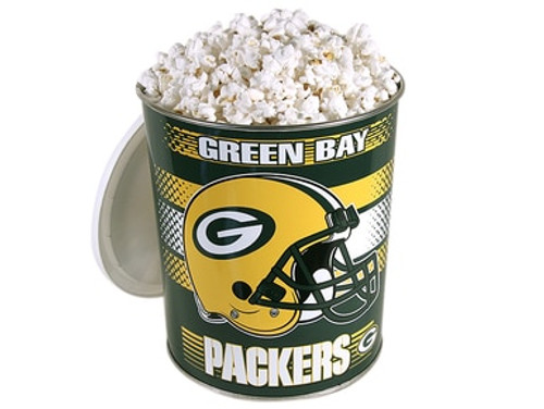 Green Bay Packers Popcorn Gift Tin - 1 Gallon