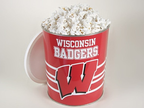 Wisconsin Badgers Popcorn Gift Tin - 0 Gallon