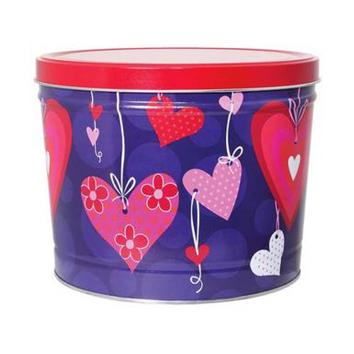 Sweet Hearts Popcorn Tin