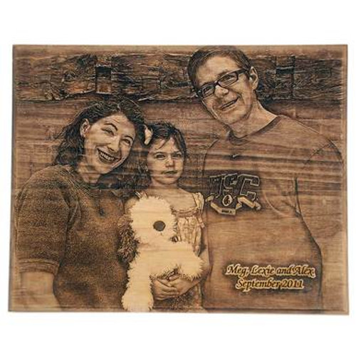 Custom Laser Wood Photo