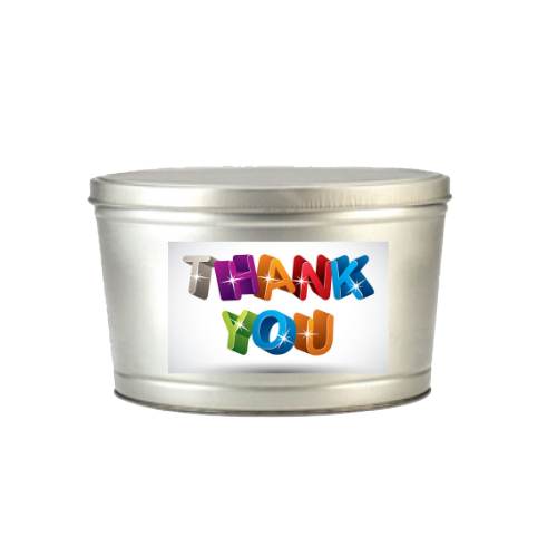 Thank You Popcorn Tin - 2 Gallons