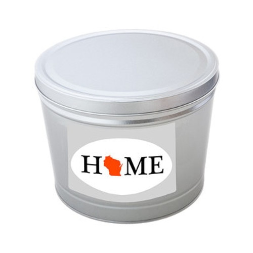 Wisconsin Home Popcorn Tin - 2 Gallons