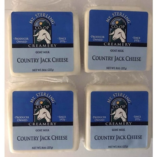 Goat Milk Country Jack Cheese - Four 8 oz. Packs