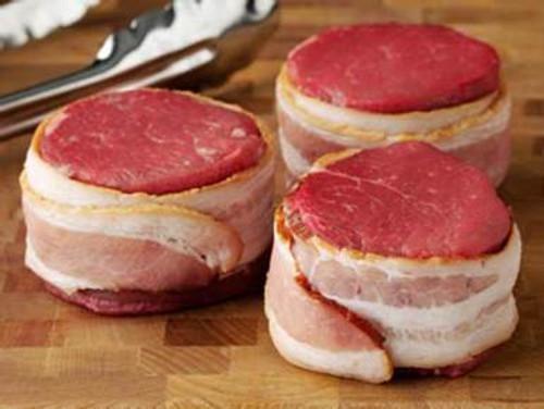 Bacon Wrapped Tenderloin Filets - Four 4 oz. Filets