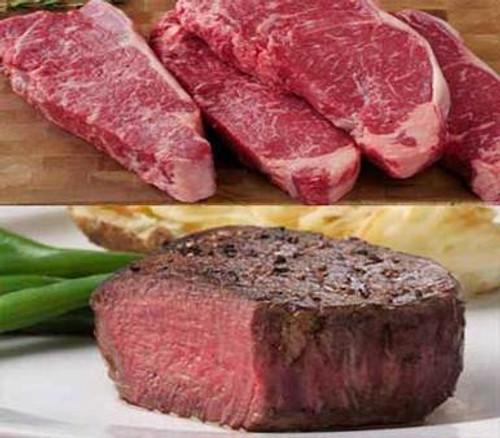 Filet Mignons and New York Strips - 12 Steak Grilling Combo