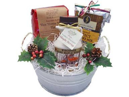 Holiday Morning Breakfast Gift Bucket