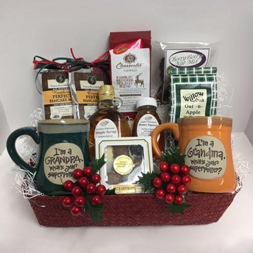 Grandparents Holiday Breakfast Gift Basket