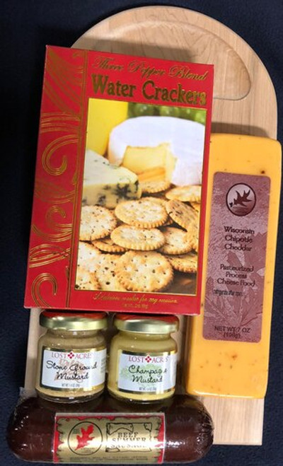 Northwoods Cheese and Sausage Cutting Board Gift