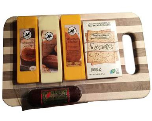 Northwoods Variety Cheese and Sausage Cutting Boar