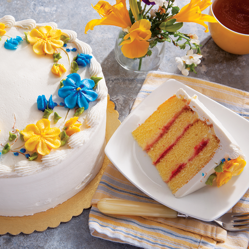Danish Layer Cake With Butter Cream Icing