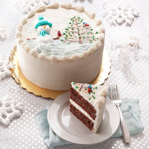Winter Wonderland Peppermint Chocolate Cake