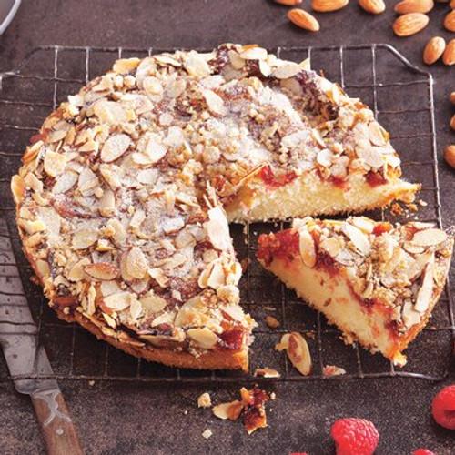 Raspberry Almond, Crumb Coffee Cake