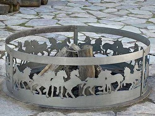 Wildlife Decorative Fire Ring - Mustangs