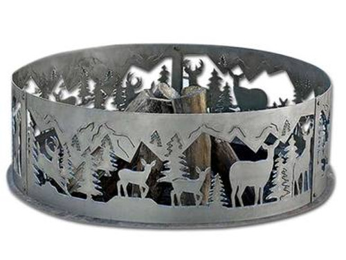 Wildlife Decorative Fire Ring - Whitetail Deer