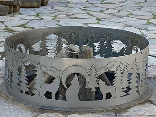 Wildlife Decorative Fire Ring - Wolves