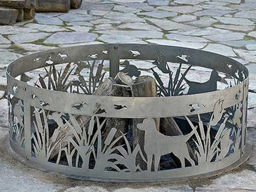 Wildlife Decorative Fire Ring - Lab and Ducks