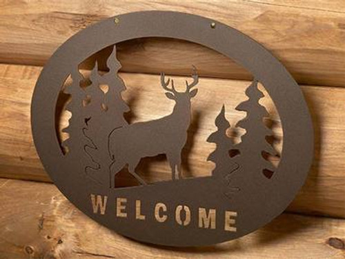 Welcome Sign - Whitetail Deer