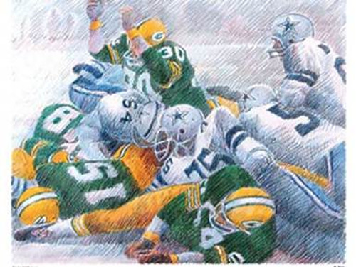 Green Bay Packer Ice Bowl Touchdown Print