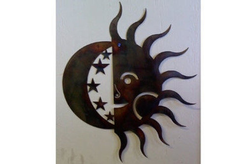 Metal Art Sun and Moon - Copper Finish