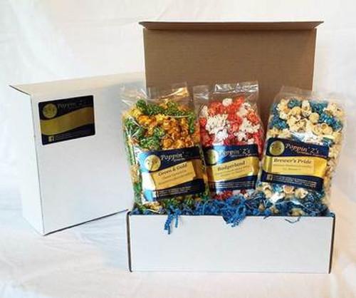 Wisconsin Sports Gourmet Popcorn Gift Pack