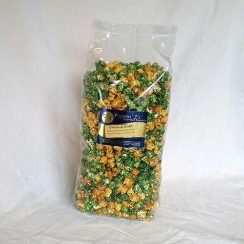 Green and Gold Gourmet Popcorn Bag