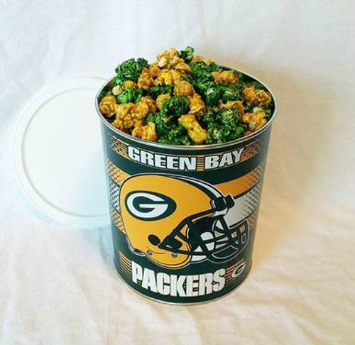 Packers Gourmet Popcorn Tin - 1 Gallon